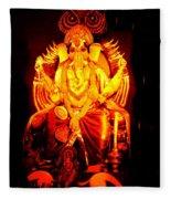 Ganesha4 Fleece Blanket