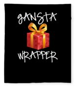 Gangsta Wrapper Funny Christmas Xmas Gift  Fleece Blanket