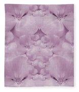 Garden Of Big Paradise Flowers Ornate Fleece Blanket