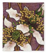 Garden Room 44 Fleece Blanket by Amy E Fraser