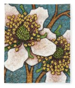 Garden Room 45 Fleece Blanket by Amy E Fraser
