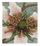 Garden Room 46 Fleece Blanket by Amy E Fraser