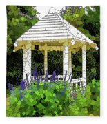 Gazebo In A Beautiful Public Garden Park 3 Fleece Blanket