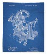 Gear Patent Design Fleece Blanket