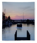 Calm Sunset Finish Fleece Blanket