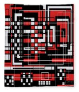 Geometric Stylization 2 Fleece Blanket