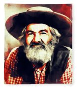 George Gabby Hayes, Vintage Actor Fleece Blanket