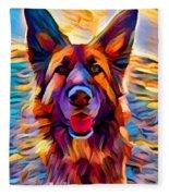 German Shepherd 8 Fleece Blanket