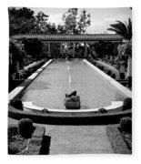 Getty Villa Massive Pool Black White Landscape  Fleece Blanket
