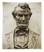 Gettysburg Battlefield - President Abraham Lincoln Fleece Blanket