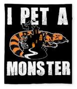 Gila Monster Halloween Venomous Lizard Pet Owner Dark Fleece Blanket