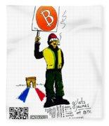 Gilets Jaunes Et Btc Fleece Blanket