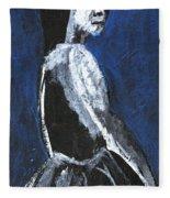 Girl In A Dress Fleece Blanket