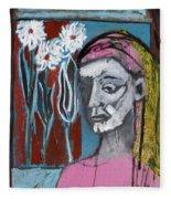 Girl In Pink Fleece Blanket