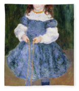 Girl With Jumping Rope, 1876 Fleece Blanket