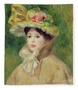 Girl With Yellow Cape, 1901 Fleece Blanket