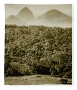 Glass House Mountains Fleece Blanket