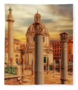 Glories Past And Present,  Rome Fleece Blanket