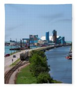 Goderich Harbour And Maitland Valley Marina Fleece Blanket
