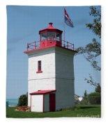 Goderich Lighthouse Fleece Blanket