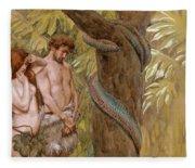 Gods Curse, Adam And Eve Fleece Blanket