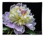 God's Perfection In A Festiva Maxima Peony Fleece Blanket