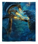 Godzilla II Rei Dos Monstros Fleece Blanket