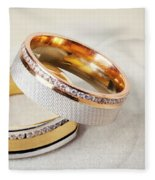 Gold Wedding Ring  Fleece Blanket