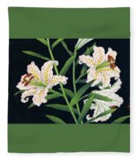 Golden-banded Lily - Digital Remastered Edition Fleece Blanket