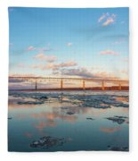 Golden Bridge Fleece Blanket