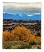 Golden Cottonwoods Fleece Blanket