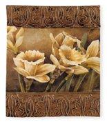 Golden Daffodils II    Fleece Blanket