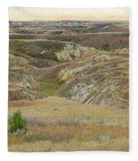 Golden Dakota Prairie Reverie Fleece Blanket