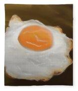 Golden Fried Egg Fleece Blanket