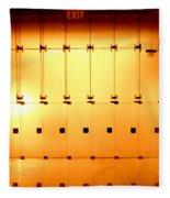 Golden Glass Doors Fleece Blanket