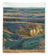 Golden Grasslands Enchantment Fleece Blanket