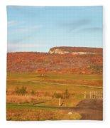 Golden Hour At River-to-ridge II Fleece Blanket