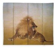 Golden Lion - Original Color Edition Fleece Blanket