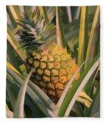 Golden Pineapple Fleece Blanket