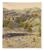 Golden Prairie Realm Reverie Fleece Blanket