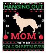 Golden Retriever Ugly Christmas Sweater Xmas Gift Fleece Blanket