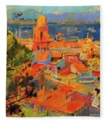 Golfe De Saint-tropez Fleece Blanket