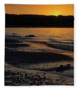 Good Harbor Bay Sunset Fleece Blanket
