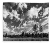 Good Harbor Shoreline Black And White Fleece Blanket