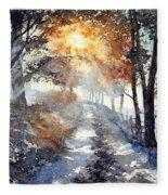 Good Morning Sun Fleece Blanket