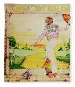 Goodbye Yellow Brick Road Fleece Blanket