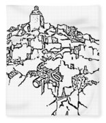 Gourdes Outline Final Fleece Blanket