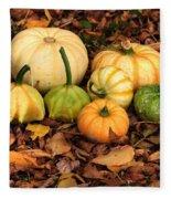 Gourds Grounded Fleece Blanket
