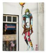 Graffiti By Deih In Reykjavik Fleece Blanket