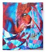 Graffiti Mural Design Fleece Blanket